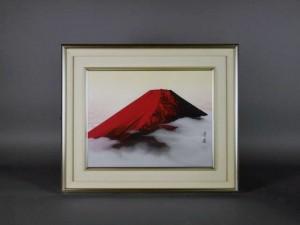 田中芳園 日本画 赤富士