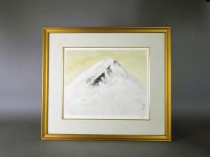 奥村土牛 リトグラフ 富士山