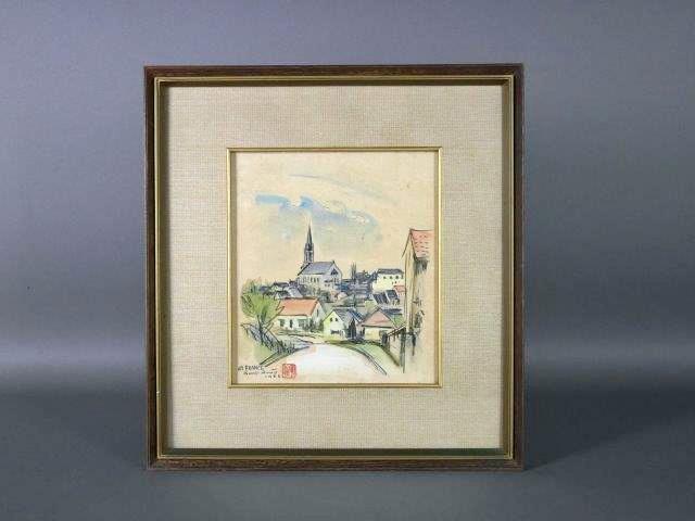 栃木県 宇都宮市のお客様から「安藤軍治」の絵画を買い取らさせて頂きました