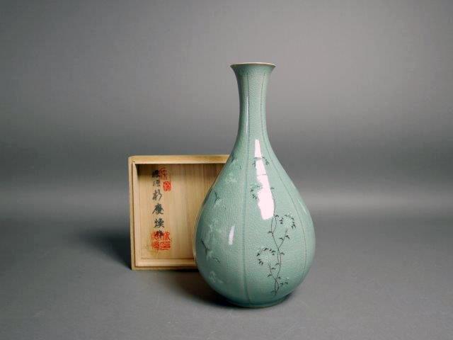 埼玉県 富士見市で高麗青磁やクリスタルガラス、書道具をお譲り頂きました