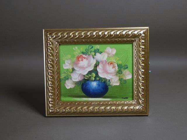 さいたま市 大宮区で絵画(油絵)や茶道具(茶碗)をお譲り頂きました