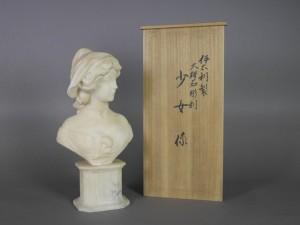 大理石彫刻 女性胸像