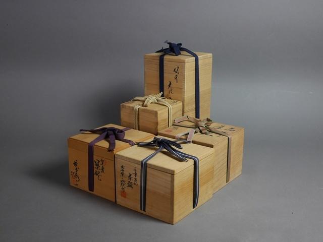 東京都 練馬区で茶碗(茶道具)や花瓶、現代陶工作家(館林源右衛門)の陶芸作品をご売却頂きました