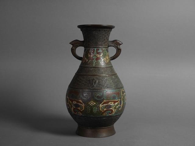 さいたま市 中央区で古い七宝の銅器や「中島保美」の銅製作品を買い受けさせていただきました