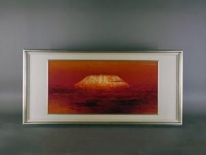 山内一生 貼絵 赤富士