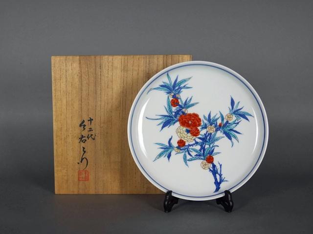 埼玉県 狭山市で「十二代 今泉今右衛門」の色鍋島の皿をお取引き頂きました