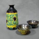 千葉県 柏市で「永楽」の酒器や九谷焼(赤絵)の茶器を買受させて頂きました