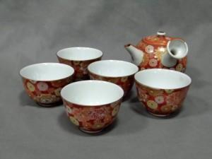 九谷 赤絵 茶器一式