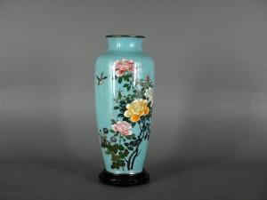花鳥図 七宝花瓶