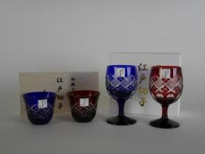 埼玉県 深谷市で江戸切子(カットガラス)の酒器など伝統工芸品を買いとらせて頂きました