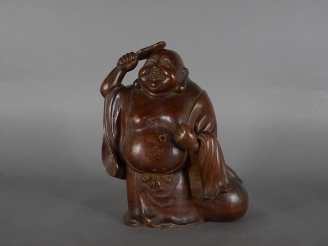 東京都 中野区で木彫の布袋像(仏像)を買い受けさせて頂きました