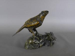 埼玉県 加須市でブロンズ(銅製)の鷹の置物をお売り頂きました